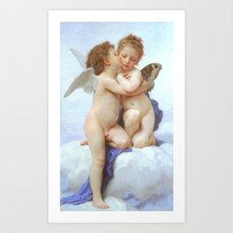 Cupid & Psyche by Bouguereau 1889 Art Print