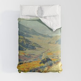 Warm breeze landscape Comforters