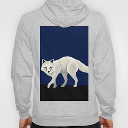 Arctic Fox Wolf during Night in the North Hoody