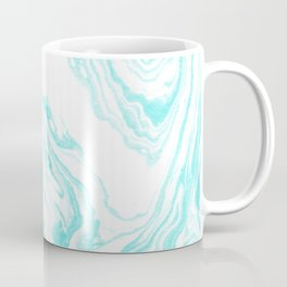 Mizuki - spilled ink abstract ocean swirl marbled paper marbling marble cell phone case Coffee Mug