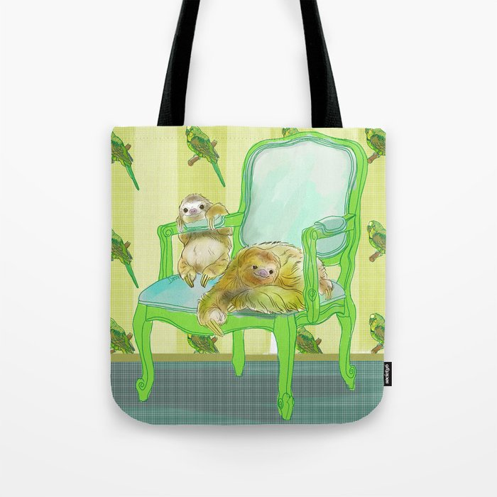 animals in chairs #6 The Sloth Tote Bag