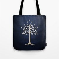 gondor Tote Bags featuring For Gondor by enthousiasme