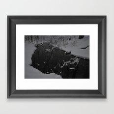 Snowy March Framed Art Print