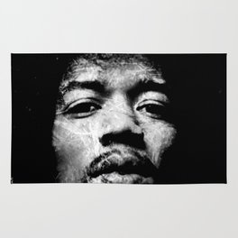 HENDRIX (BLACK & WHITE VERSION) Rug