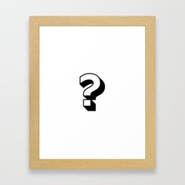 Question Mark ? Framed Art Print