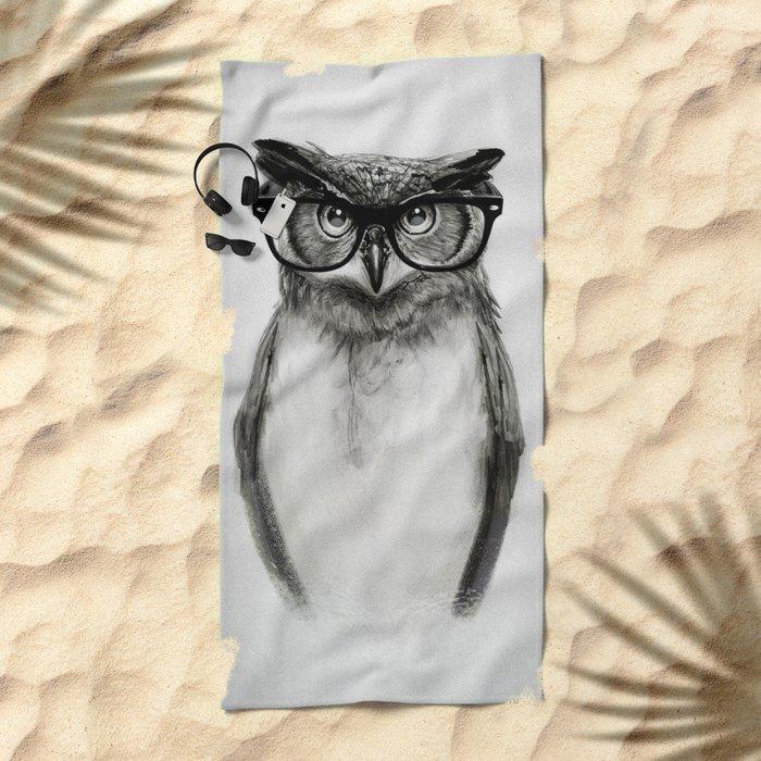 Mr. Owl Beach Towel