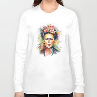 frida kahlo Long Sleeve T-shirts featuring Frida Kahlo by Tracie Andrews