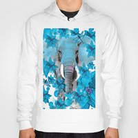 elephant Hoodies featuring Elephant  by Saundra Myles