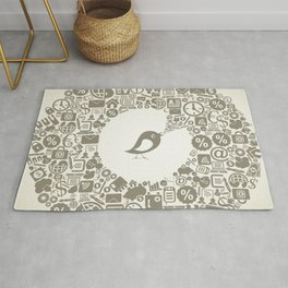 Bird business Rug