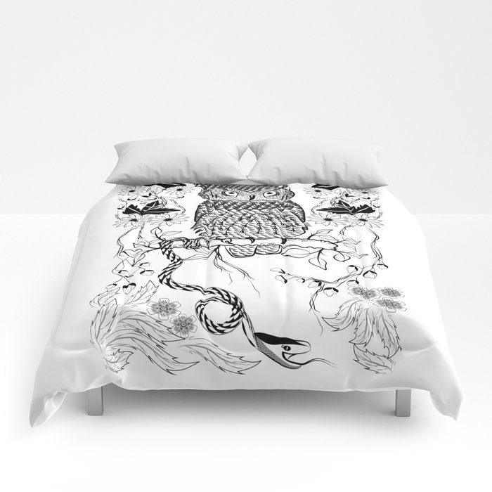 Jungle Owl and Snake Comforters