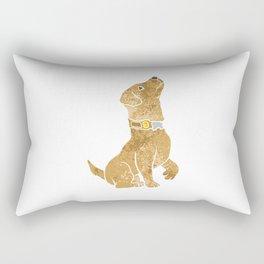 dog sitting. adopt a pet. Rectangular Pillow