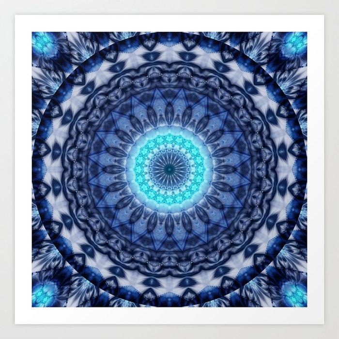 Mandala Iceblue 3 Art Print