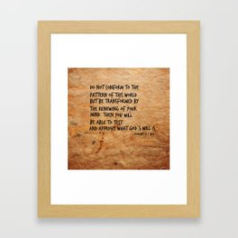 Romans 8:2 Framed Art Print