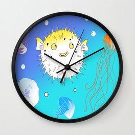 Little Fugu (Blue) Wall Clock