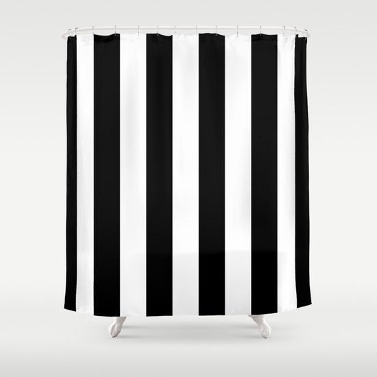 Black And White Stripes Shower Curtain By Laura Ruth Society6