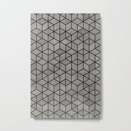 Hexagon concrete cubes Metal Print