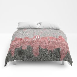 cincinnati city skyline Comforters