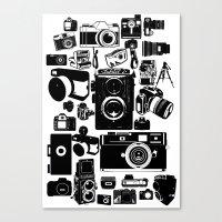 cameras Canvas Prints featuring Cameras by Ewan Arnolda