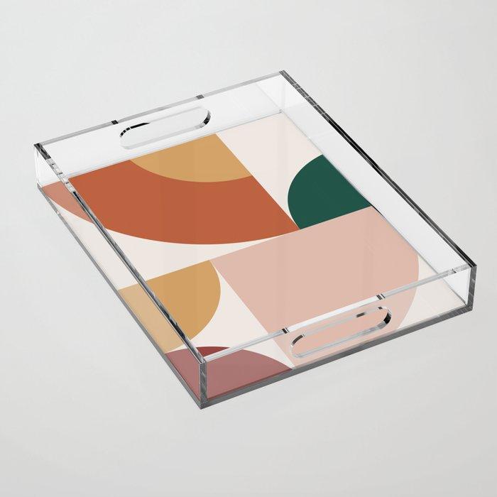 Abstract Geometric 13 Acrylic Tray
