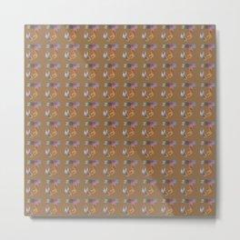 Initial pattern J1 Metal Print