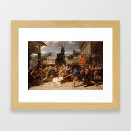 Guillaume-Guillon Lethiere - The Death of Virginia Framed Art Print