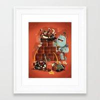 vikings Framed Art Prints featuring :::Drunk Vikings::: by Ilias Sounas
