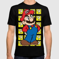 It's A Me MEDIUM Mens Fitted Tee Black
