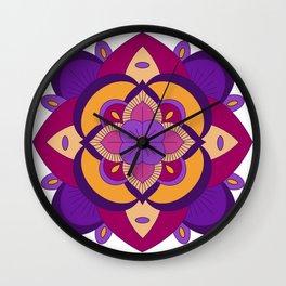Mandala-Purple and Pink Wall Clock