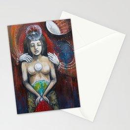 Threshold // Goddess Moon Luna Woman Wombman WeMoon Spirit Angel Healing Energy Wisdom Stationery Cards