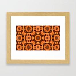 Pattern in Warm Tones Framed Art Print