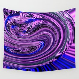 BLUE PURPLE ABSTRACTION Wall Tapestry