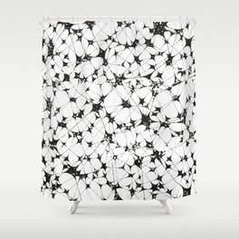 Black White Abstract Pattern, entanglement Shower Curtain