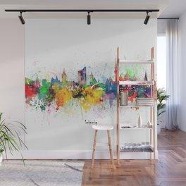 leipzig skyline artistic Wall Mural