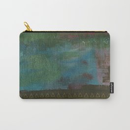 Deep blue green Carry-All Pouch