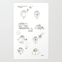 rubyetc Art Prints featuring when life gives you lemon  by rubyetc