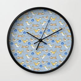 Funny dogs playing Wall Clock