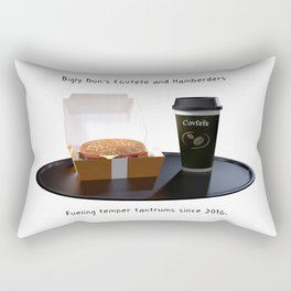 Bigly Don's Covfefe and Hamberders (no background) Rectangular Pillow