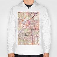 kansas Hoodies featuring Kansas City by MapMapMaps.Watercolors