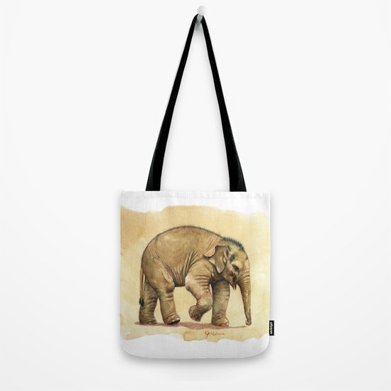 Baby elephant A081 Tote Bag