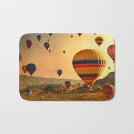 Hot Air Balloons at Sunrise in Cappadocia Bath Mat