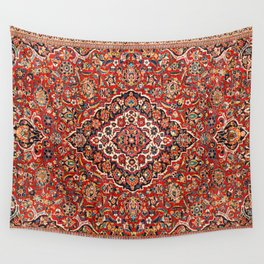 Kashan  Antique Central Persian Rug Wall Tapestry