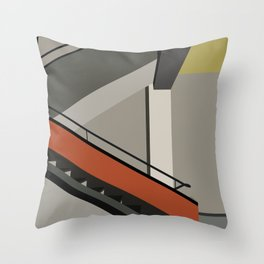Stairway in bauhaus Dessau Throw Pillow