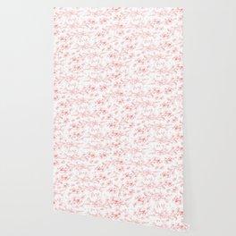 Red pohutukawa pattern Wallpaper