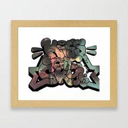 """""""Kiss The Sky"""" Hendrix Design Framed Art Print"""