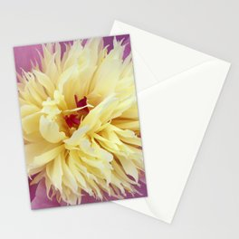 peony bloom macro XXV Stationery Cards