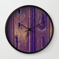 door Wall Clocks featuring door by gzm_guvenc
