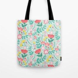 Flower Lovers - Green Tote Bag