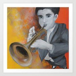 Trumpetist Art Print