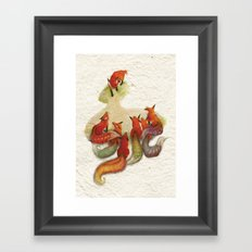 aesop's fable - the fox and his tail Framed Art Print