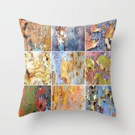 Rainbow Bark Throw Pillow